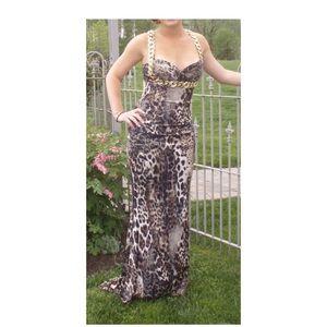 Leopard Jovani Prom Dress Size 4
